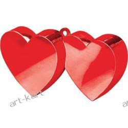 Obciążnik do balonów - serduszka podwójne czerwone Zaproszenia, zawiadomienia