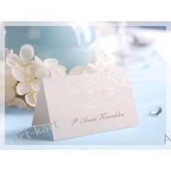 Wizytówki (winietki) na stół  WS49/ 10szt Zaproszenia, zawiadomienia
