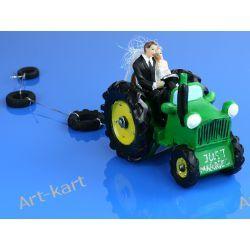 Para Młoda na traktorze, figurka na tort 11cm PF34 Zaproszenia, zawiadomienia