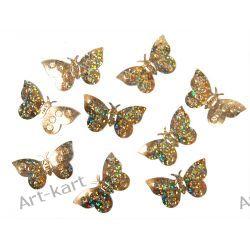 Konfetti holograficzne złote motyle KONS32 / 15g Zaproszenia, zawiadomienia