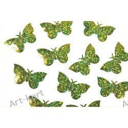 Konfetti holograficzne zielone motyle KONS32 / 15g Zaproszenia, zawiadomienia