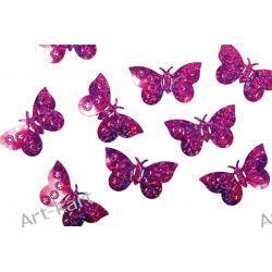 Konfetti holograficzne różowe motyle KONS32 / 15g Zaproszenia, zawiadomienia