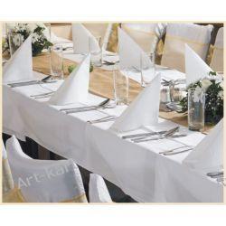 Obrus biały prostokątny 180x300cm Zaproszenia, zawiadomienia