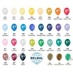"""Balony 12"""" BELBAL metalik / 100szt jednokolorowych Zaproszenia, zawiadomienia"""