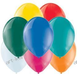 """Balony 10"""" BELBAL crystal MIX / 100szt Zaproszenia, zawiadomienia"""