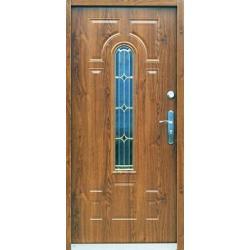 Drzwi antywłamaniowe stal. z witrażem RÓŻNE WZORY