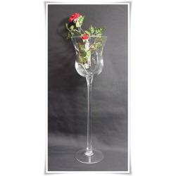 Kielich świecznik szklany 45cm szkło dekoracje