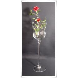 Kielich świecznik szklany 40cm szkło dekoracje
