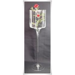 Kielich świecznik szklany 60cm  ślub prezent szkło