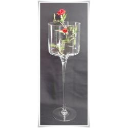 Kielich świecznik szklany 50cm  ślub prezent szkło