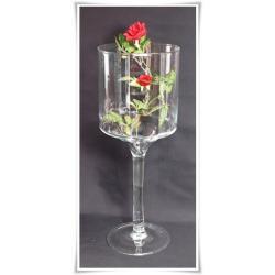 Kielich świecznik szklany 40cm  ślub prezent szkło