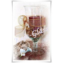 Kielich świecznik szkło wazon szklany 28cm ślub