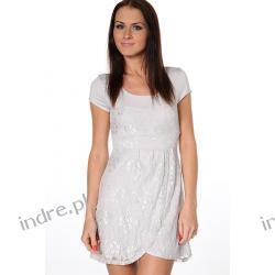 koronkowa sukienka 2 w 1 z rozcieciem na przodzie