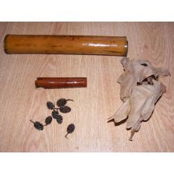 Zestaw bambus,liście,szyszki,cynamon