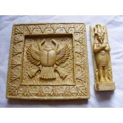 Płaskorzeżba egipska skarabeusz + gratis Pozostałe