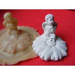 Aniołek na kwiatku  forma do odlewów! Przedmioty ręcznie wykonane