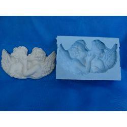 Forma silikonowa  całujące się anioły Przedmioty ręcznie wykonane