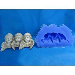 """Forma silikonowa """"Trzy aniołki"""" Przedmioty ręcznie wykonane"""