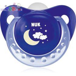 Silikonowe smoczki do uspokajania Nuk Night & Day - noc rozmiar 2 (6-18m)...
