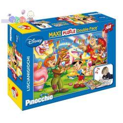 Rewolucyjne dwustronne puzzle do układania i kolorowania 2 w 1 Liscianigiochi 108 el. Pinokio...