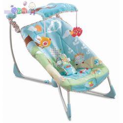 Uspokajający składany fotelik-leżaczek niemowlęcy Fold and Go Fisher Price...