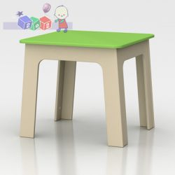 Lakierowany stolik z mdf-u dla dzieci Globinit...