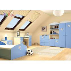 Komplet mebli dziecięcych Baggi  Szafa + komoda + łóżko piętrowe...