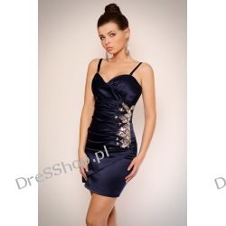 Piękna granatowa sukienka rozm. S 36