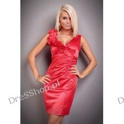 Elegancka czerwona sukienka rozm. S 36