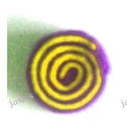 """Koła """"ślimaki"""" - fioletowo - żółte Filcowanie"""