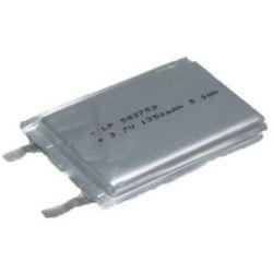Akumulator pryzmatyczny LP503759 PL503759 1100mAh 4.1Wh Li-Polymer 3.7V 5.0x37.5x59.0mm Bluetooth
