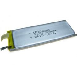 Akumulator pryzmatyczny LP302260 370mAh 1.4Wh Li-Polymer 3.7V 3x22x60mm Bluetooth