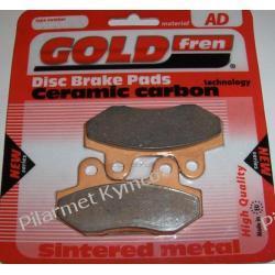 Klocki hamulcowe renomowanej marki GOLDFREN AD do KYMCO Activ / Nexxon - przód|tył.