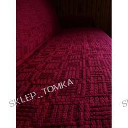 Komplet 3 narzut: narzuta na łóżko 170x205cm oraz 2 na fotele 66x170cm, Bordowy