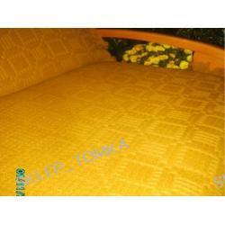 Komplet 3 narzut na łożko 175x205cm i 2 narzuty na fotele, Miodowy