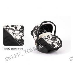 Fotelik Boboiway Implast czarno-białe kwiaty