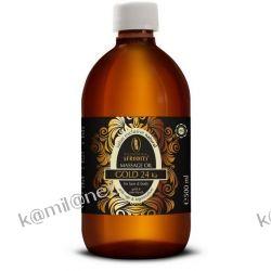Kozmetika Afrodita GOLD 24 Ka Olejek do masażu twarzy i ciała ze złotem 500 ml