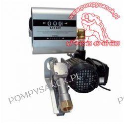 Pompa łopatkowa do oleju napędowego DRUM TECH z Miernikiem Pompy i hydrofory