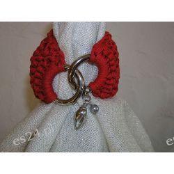 Bransoletka ze sznurka robiona na drutach