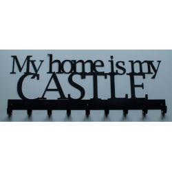 Wieszak na ubrania ORYGINALNY My home is my CASTLE