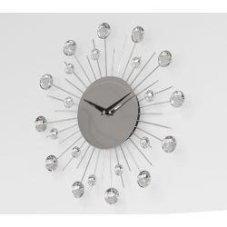 ZEGAR ŚCIENNY SŁONECZKO Z KRYSZTAŁKAMI Zegary