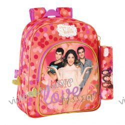 Plecak  Violetta 38 cm + piórnik gratis