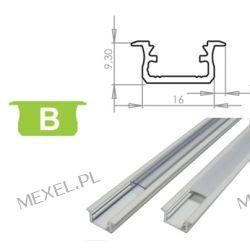 PROFIL LUMINES-B2-S WPUSZCZANY SREBRNY ANODOWANY 2m Przemysł metalowy i hutnictwo