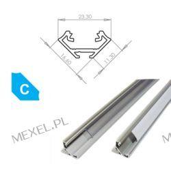 PROFIL LUMINES-C1-S NAROŻNY SREBRNY ANODOWANY 1m Przemysł metalowy i hutnictwo