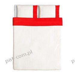 IKEA FARGLAV Kpl pościeli, czerwono-biały 200x200