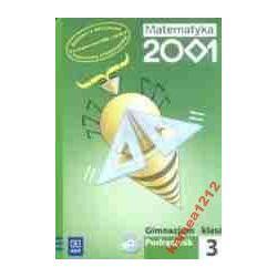 MATEMATYKA 2001 KL 3 PODRĘCZNIK+CD GIMN