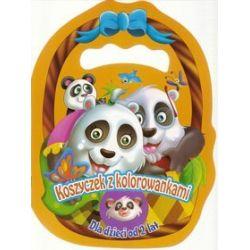 Koszyczek z kolorowankami - Pandy
