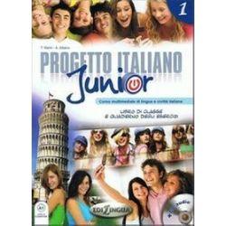 Język włoski. Progetto italiano junior 1 - podręcznik z ćwiczeniami, gimnazjum - Marin Telis