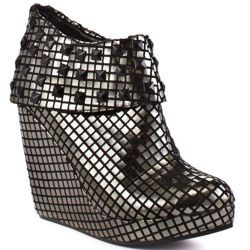buty na koturnie IRON FIST - HEAVY METAL WEDGE (PEWTER) (IFL1042)
