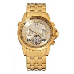 Roebelin & Graef Herrenuhr Karthago Edition matt gold gold Automatikwerk RG 606624-42